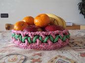 cestino portafrutta portatutto tricotin corda tricot idea regalo