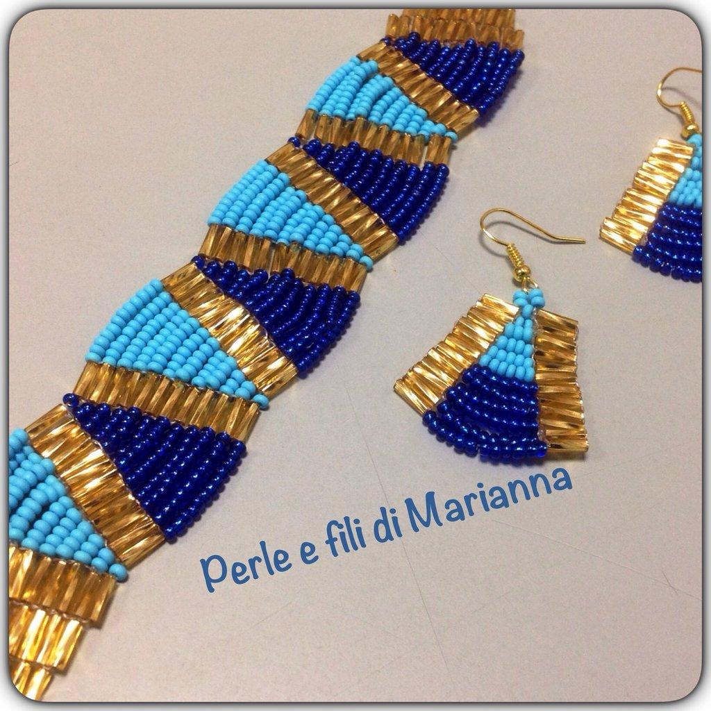 Colori egiziani blu oro e turchese