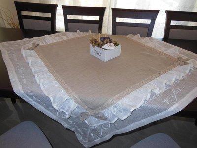 Tovaglia in lino in stile shabby chic