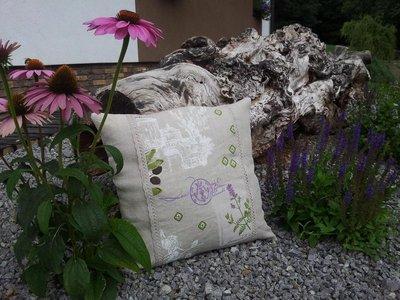 Cuscino in lino Provencal Herbs