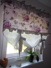 Tenda in lino in stile shabby chic