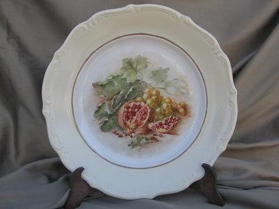 piatto porcellana con melograno