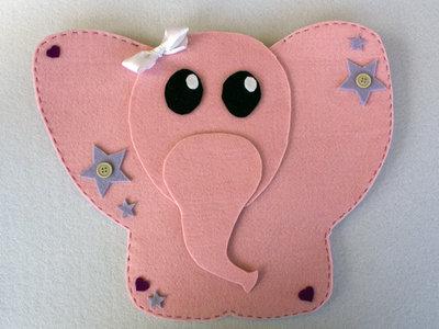 Porta pigiama elefantina in feltro