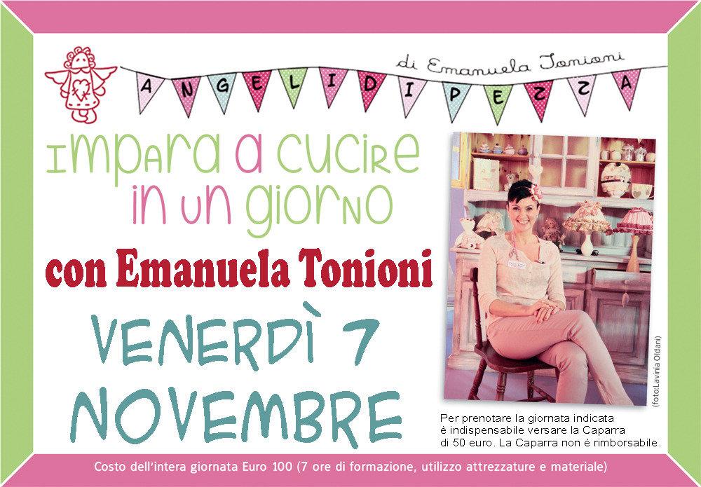 Ven 7 Novembre - Impara a Cucire in un Giorno con Emanuela Tonioni