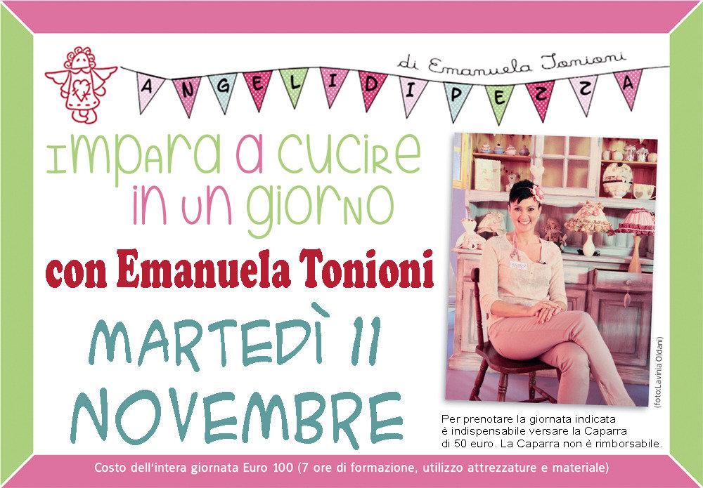 Mar 11 Novembre - Impara a Cucire in un Giorno con Emanuela Tonioni