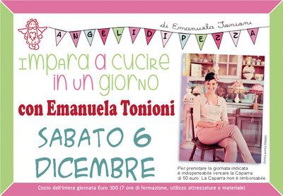 Sab 6 Dicembre - Impara a Cucire in un Giorno con Emanuela Tonioni