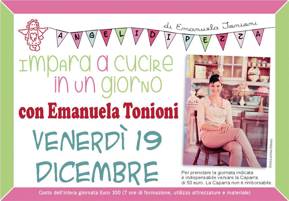 Ven 19 Dicembre - Impara a Cucire in un Giorno con Emanuela Tonioni