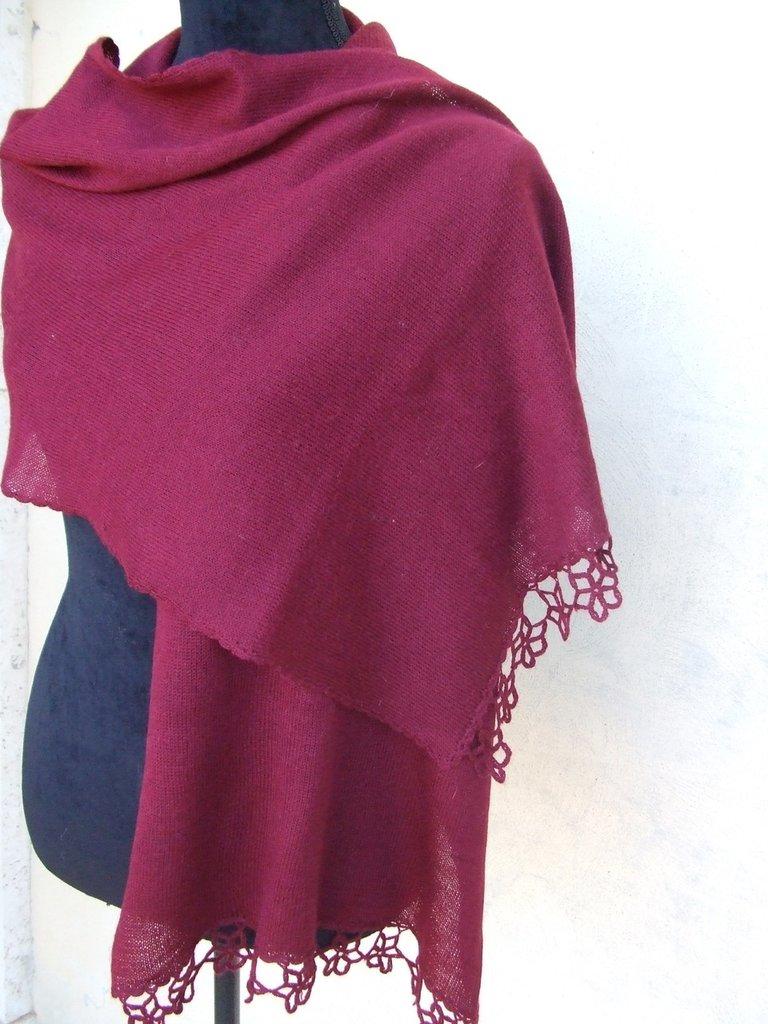 sciarpa donna leggera lana cotone maglia