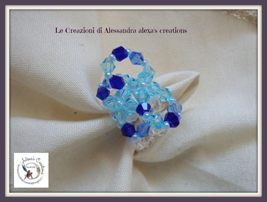 anello farfalla blu