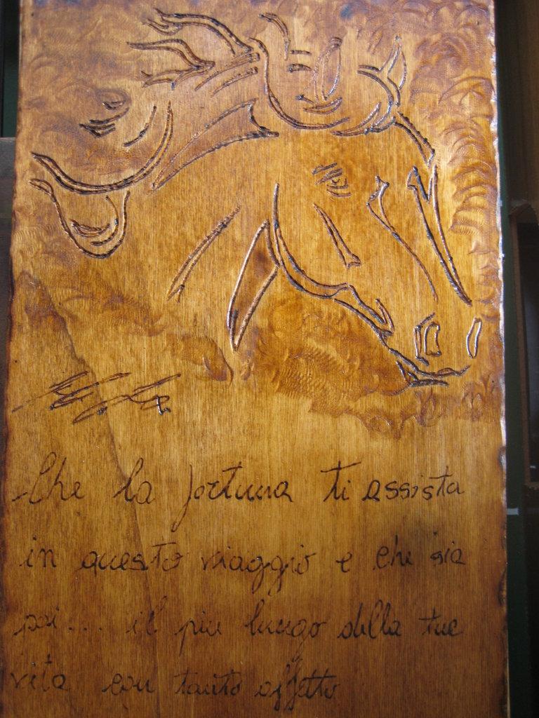 quadro legno intarsiato