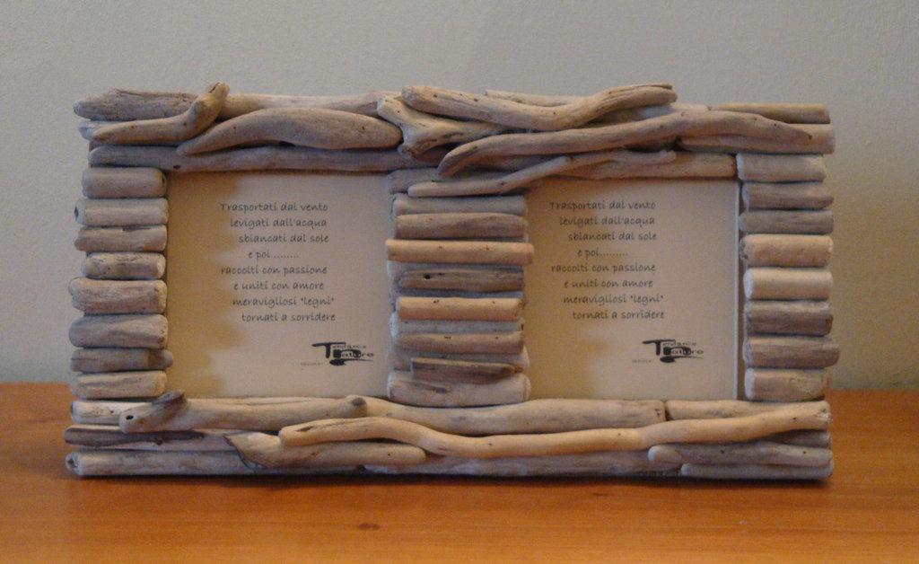 Portafoto RIGO' con legni di mare, bois flotté