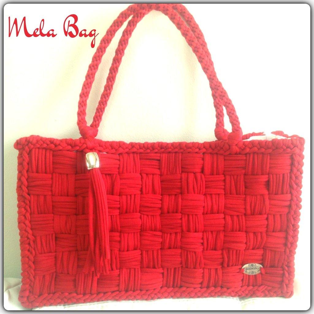Conosciuto Borsa rossa in fettuccia e rete - Donna - Borse - di Mela Bag  KU25
