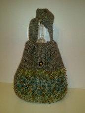 borsa di lana fatta a mano