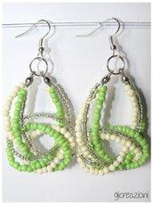 Orecchini con nodo - verde