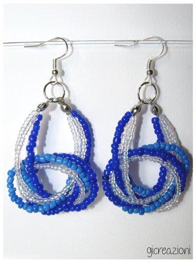 Orecchini con nodo - blu