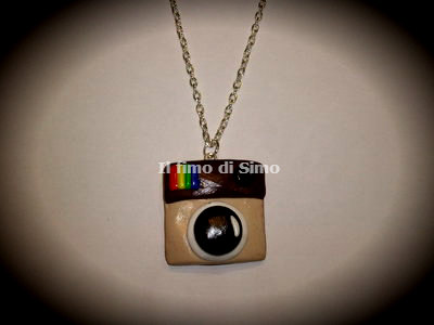 collana instagram in fimo