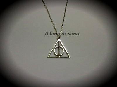 collana i doni della morte Harry Potter in metallo