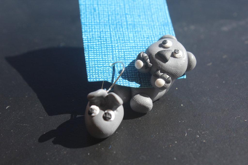 Orecchini fimo koala
