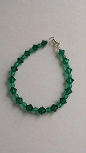 Bracciale verde smeraldo Swarovski
