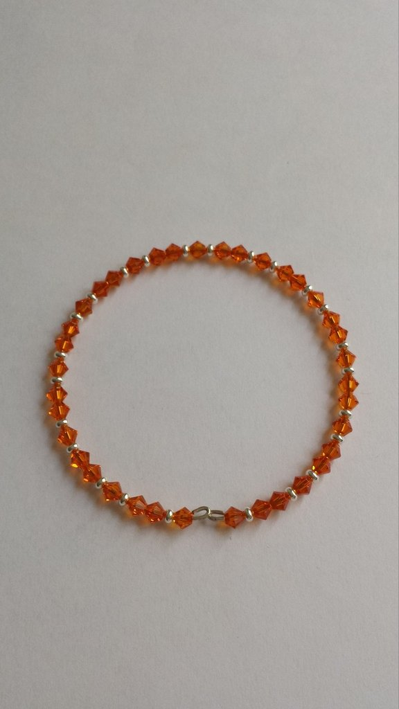 Bracciale memory biconi Swarovski arancioni