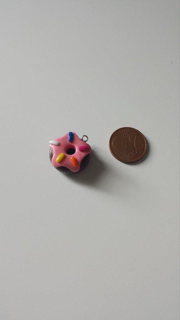 Ciondolo ciambella - donut in Fimo