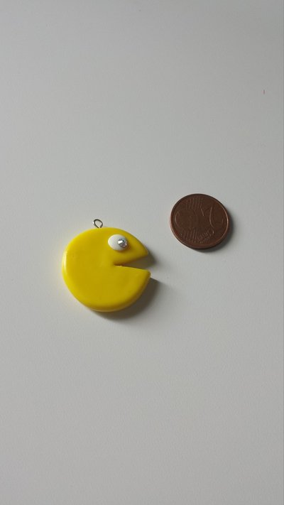 Ciondolo Pac Man in Fimo