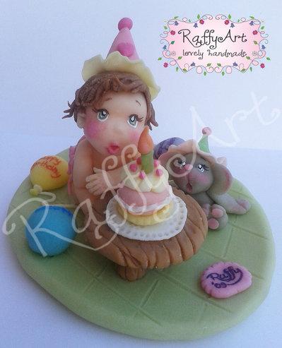 """Cake topper  """"La mia prima candelina"""" (personalizzabile)"""