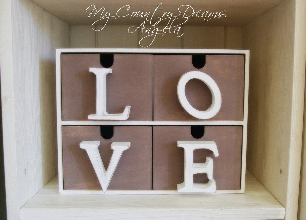 Mini cassettiera Love
