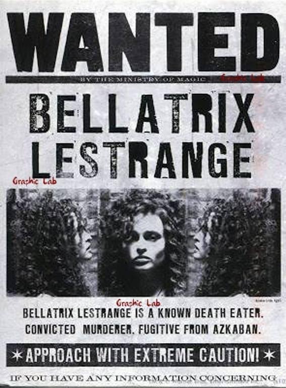 Locandina di Ricerca di Bellatrix Lestrange Harry Potter