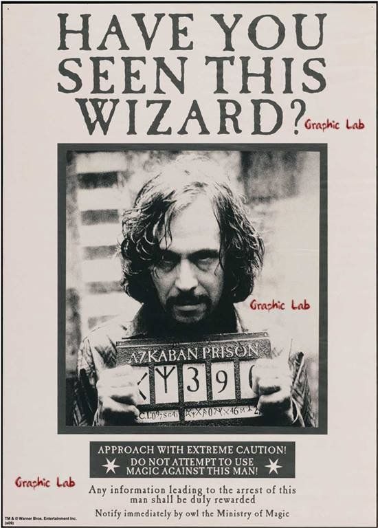 Locandina di Ricerca di Sirius Black Harry Potter