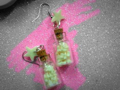 Orecchini bottigliette luminose