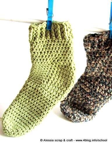 Pattern per realizzare i CALZETTONI unisex a crochet uncinetto di Tramontana Uniquely Couture