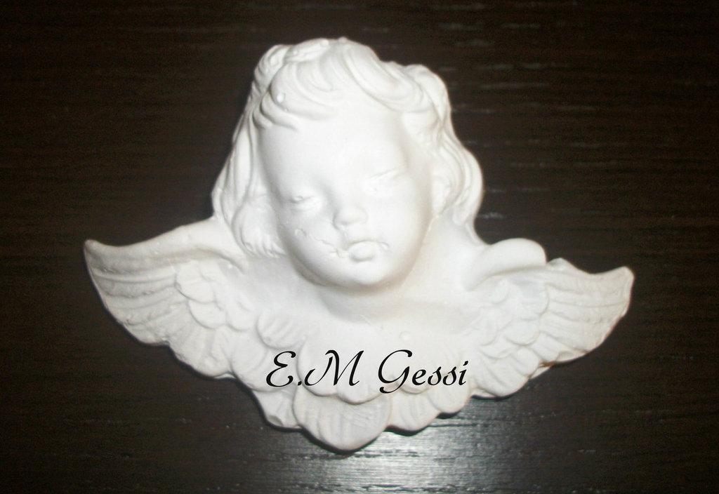Decorazione angelo in gesso ceramico