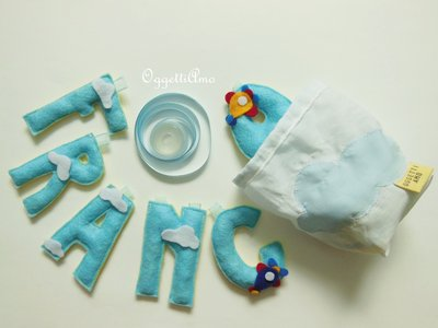 Sacchetto regalo per ghirlande di lettere imbottite 'Nuvola'