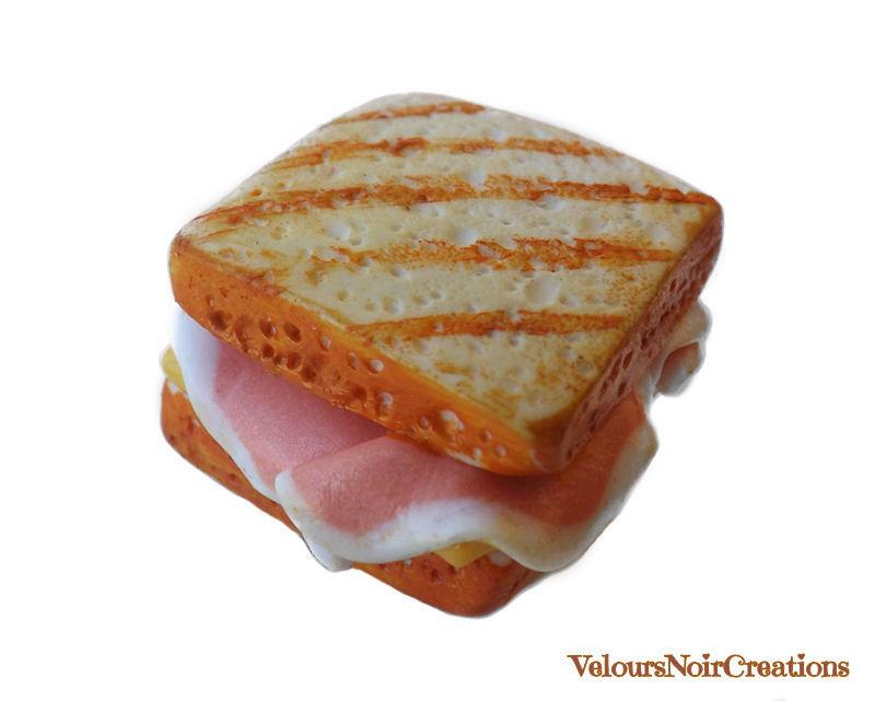 Calamita magnete frigo toast sandwich in fimo