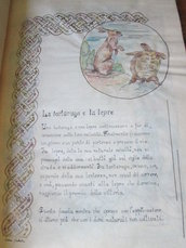 favole di Esopo in pergamena