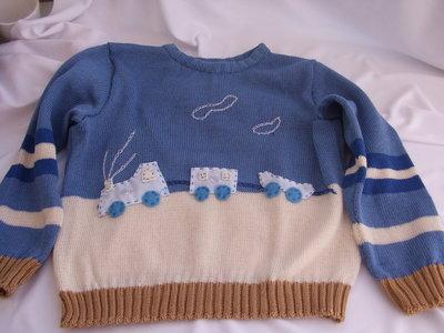 golfino bimbo cotone o lana trenino maglia