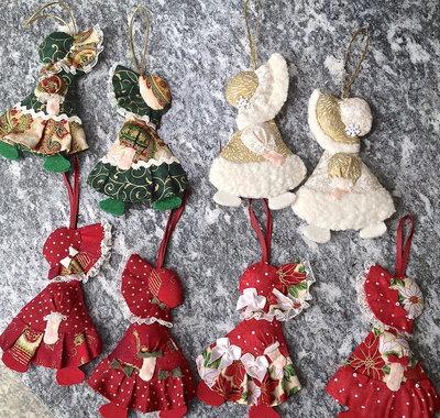Natale, bambolina Sue Sunbonnet da appendere all'albero