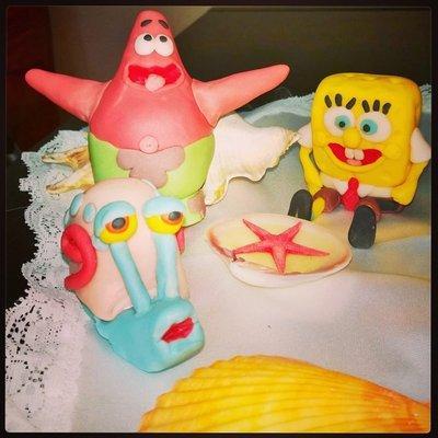 Personaggi Torta Spongebob Pasta di Zucchero