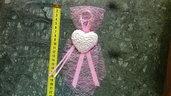 bomboniera per neonata con gesso profumato cuore