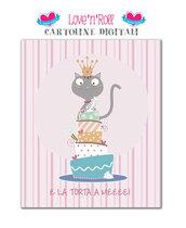 Biglietto di compleanno digitale per femminucce