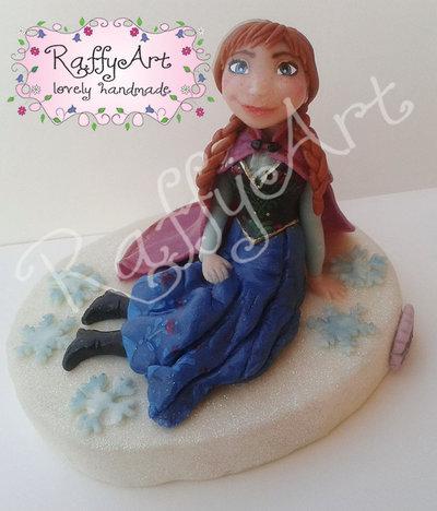 Cake topper Frozen Anna