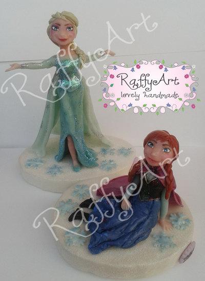 Cake topper Frozen Anna & Elsa