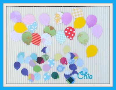 16 palloncini fustellati in carta di 2 misure