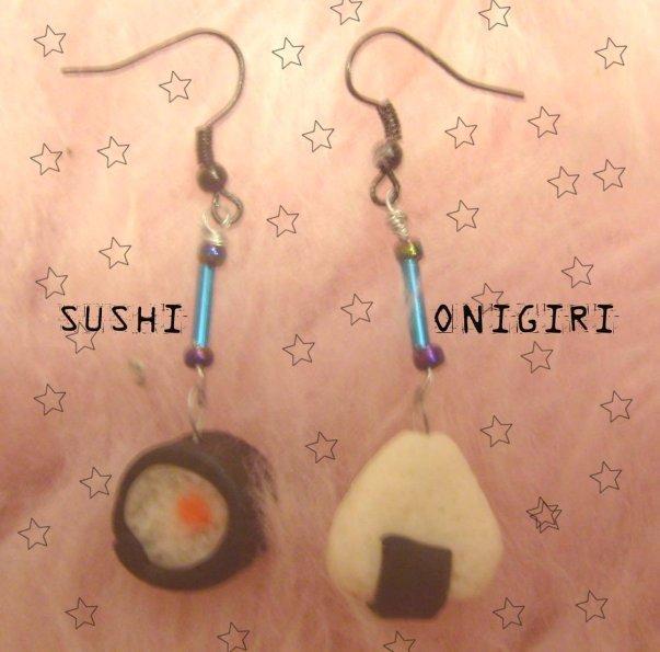 Orecchini sushi e onigiri