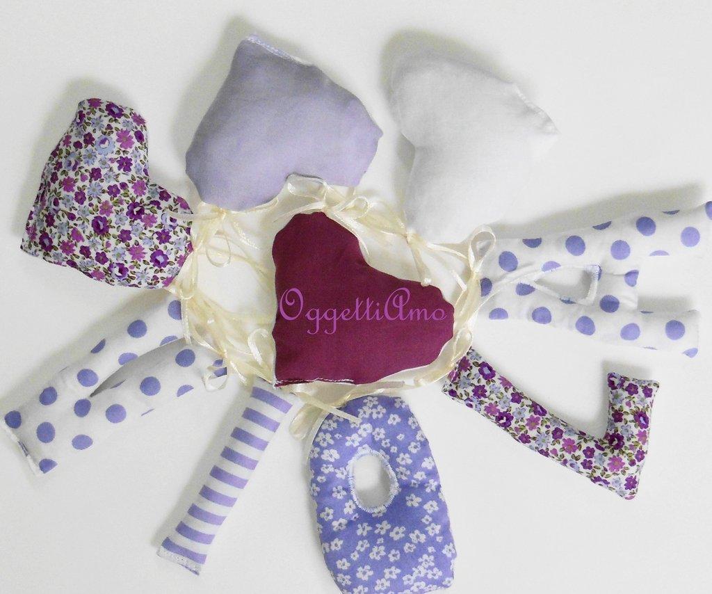 Ghirlanda di lettere di stoffa per decorare la cameretta della vostra bambina!
