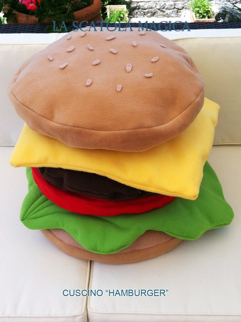 Cuscino Hamburger - 6 in 1!