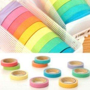 Nastri Adesivi Washi Tape Multicolori