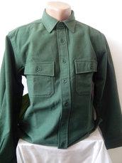 Verde Mens modello camicia di flanella è formato -S