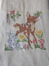 Copertina Bambi fatta a mano!-punto croce